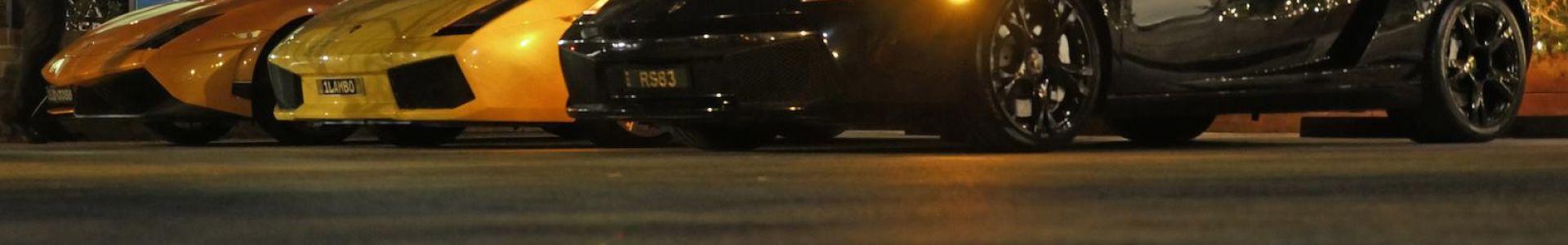 Ferrari's at night